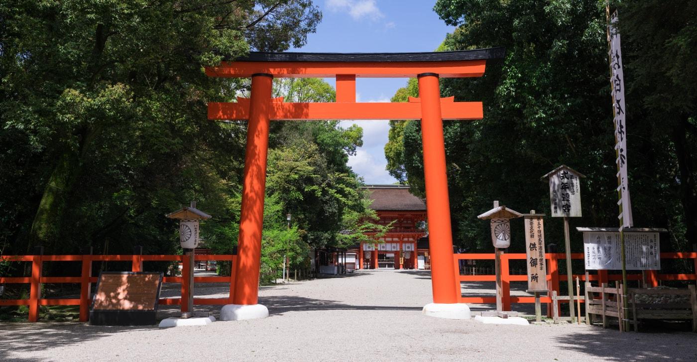 京都神社結婚式の説明の画像