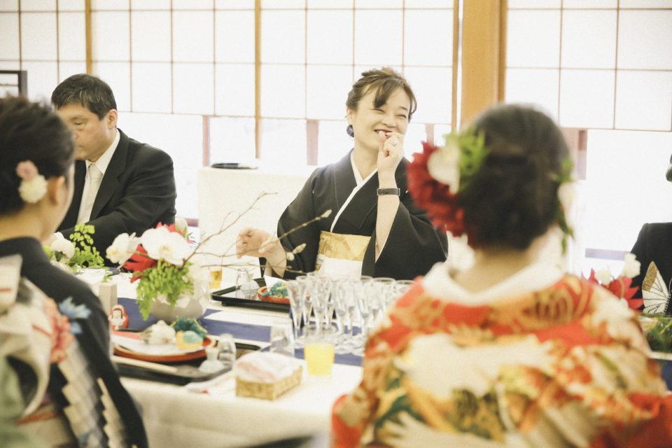 たくや&みさウェディングレポート 和やかな親族での食事会