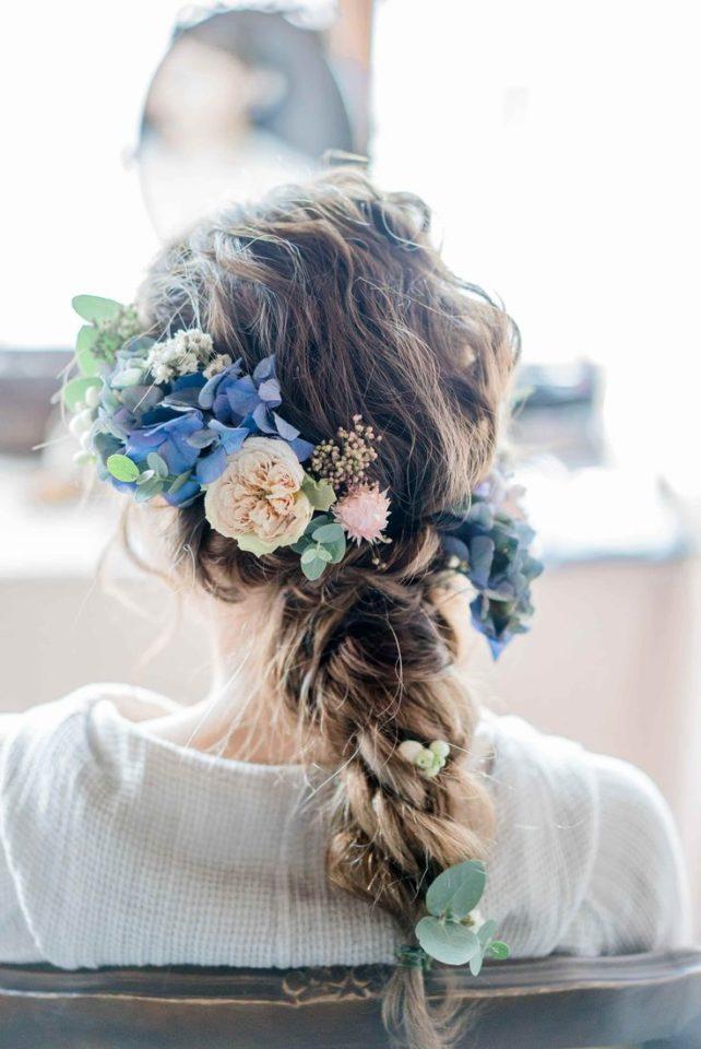 お花たっぷりゴージャスヘア画像