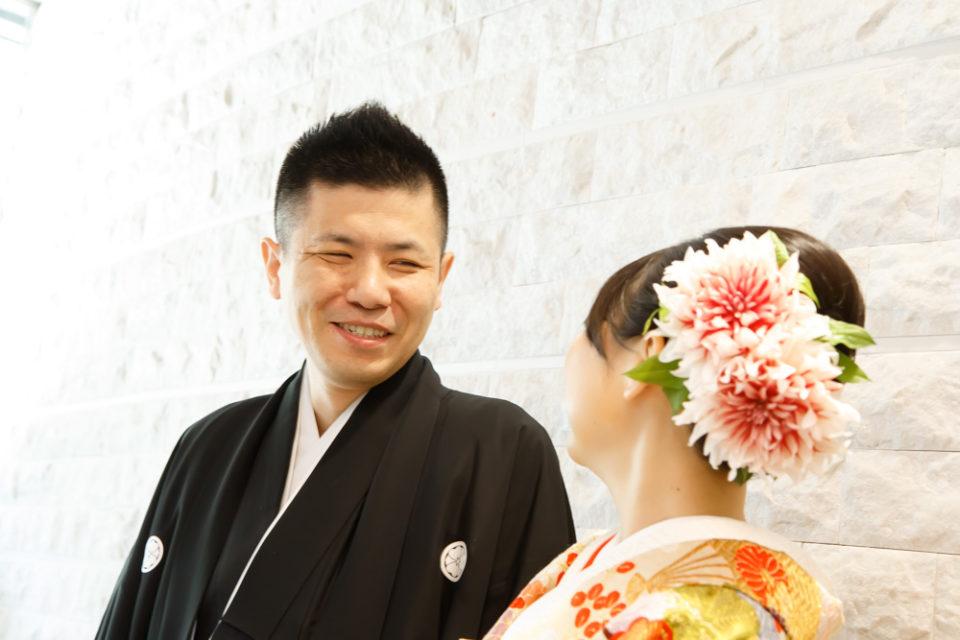 京都結婚式-お互い着物姿が新鮮