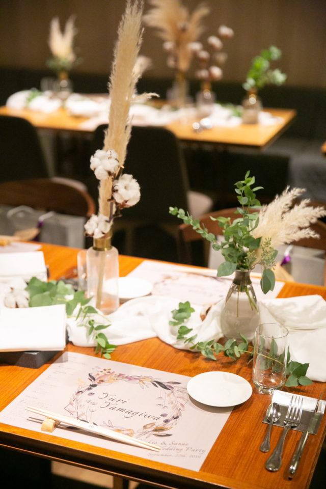 京都レストランウェディング、らしさWeddingの口コミ、装飾