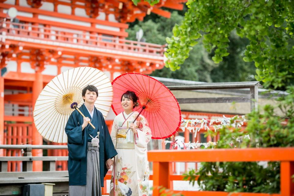 下鴨神社結婚式新郎新婦写真